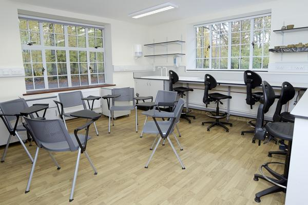 The Hope Room, a multi-functional room suitable for meetings or lab work.