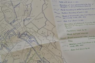 a section of the pull out map